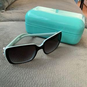 Authentic Tiffany & Co Black Sunglasses Swarovski
